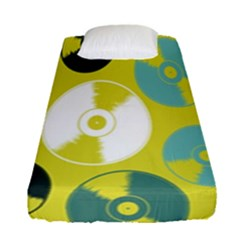 Streaming Forces Music Disc Fitted Sheet (single Size) by Alisyart