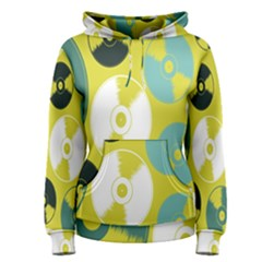 Streaming Forces Music Disc Women s Pullover Hoodie