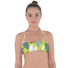 Streaming Forces Music Disc Halter Bandeau Bikini Top