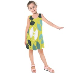 Streaming Forces Music Disc Kids  Sleeveless Dress