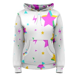 Star Triangle Space Rainbow Women s Pullover Hoodie