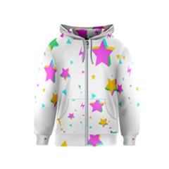 Star Triangle Space Rainbow Kids  Zipper Hoodie by Alisyart
