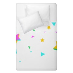 Star Triangle Space Rainbow Duvet Cover Double Side (single Size)
