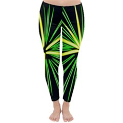Fireworks Green Happy New Year Yellow Black Sky Classic Winter Leggings