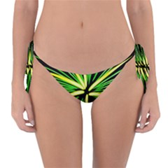 Fireworks Green Happy New Year Yellow Black Sky Reversible Bikini Bottom