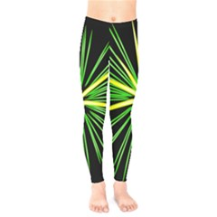 Fireworks Green Happy New Year Yellow Black Sky Kids  Legging
