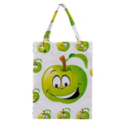 Apple Green Fruit Emoji Face Smile Fres Red Cute Classic Tote Bag