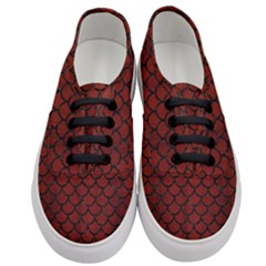 Scales1 Black Marble & Red Wood Women s Classic Low Top Sneakers