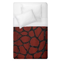 Skin1 Black Marble & Red Wood (r) Duvet Cover (single Size) by trendistuff