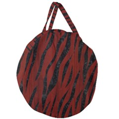 Skin3 Black Marble & Red Wood Giant Round Zipper Tote by trendistuff