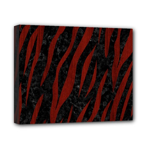 Skin3 Black Marble & Red Wood (r) Canvas 10  X 8  by trendistuff