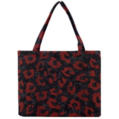 Skin5 Black Marble & Red Wood Mini Tote Bag by trendistuff