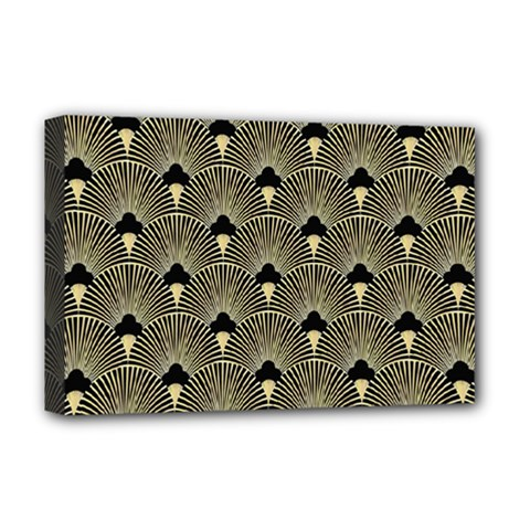 Art Deco Fan Pattern Deluxe Canvas 18  X 12   by 8fugoso