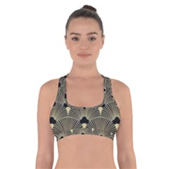Art Deco Fan Pattern Cross Back Sports Bra by 8fugoso