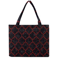 Tile1 Black Marble & Red Wood (r) Mini Tote Bag by trendistuff