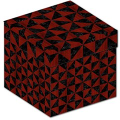 Triangle1 Black Marble & Red Wood Storage Stool 12   by trendistuff