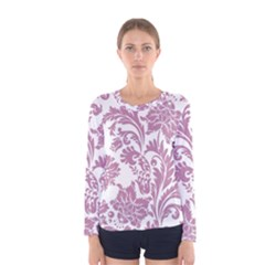 Vintage Floral Pattern Women s Long Sleeve Tee by 8fugoso