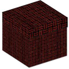 Woven1 Black Marble & Red Wood (r) Storage Stool 12   by trendistuff