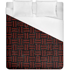 Woven1 Black Marble & Red Wood (r) Duvet Cover (california King Size) by trendistuff