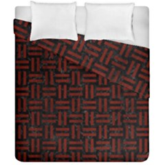 Woven1 Black Marble & Red Wood (r) Duvet Cover Double Side (california King Size) by trendistuff