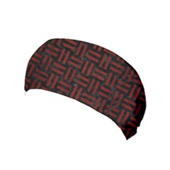 Woven1 Black Marble & Red Wood (r) Yoga Headband by trendistuff