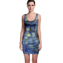 Van Gogh Inspired Bodycon Dress by 8fugoso
