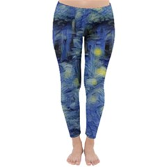 Van Gogh Inspired Classic Winter Leggings by 8fugoso