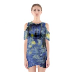 Van Gogh Inspired Shoulder Cutout One Piece by 8fugoso
