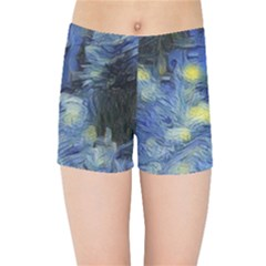 Van Gogh Inspired Kids Sports Shorts by 8fugoso