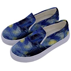 Van Gogh Inspired Kids  Canvas Slip Ons by 8fugoso