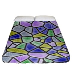 Mosaic Linda 5 Fitted Sheet (king Size) by MoreColorsinLife