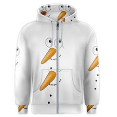 Cute Snowman Men s Zipper Hoodie by Valentinaart