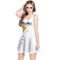 Cute Snowman Reversible Sleeveless Dress