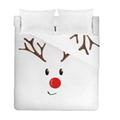 Cute Reindeer  Duvet Cover Double Side (full/ Double Size) by Valentinaart