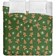 Ginger Cookies Christmas Pattern Duvet Cover Double Side (king Size)