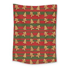 Ginger Cookies Christmas Pattern Medium Tapestry by Valentinaart