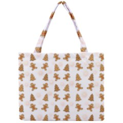 Ginger Cookies Christmas Pattern Mini Tote Bag by Valentinaart