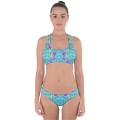 Season For Roses And Polka Dots Cross Back Hipster Bikini Set by pepitasart