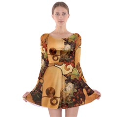 Alfons Mucha   Fruit Long Sleeve Skater Dress by 8fugoso