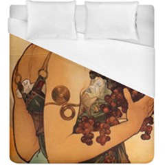 Alfons Mucha   Fruit Duvet Cover (king Size)