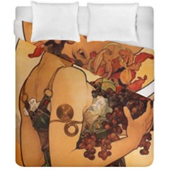 Alfons Mucha   Fruit Duvet Cover Double Side (california King Size) by 8fugoso