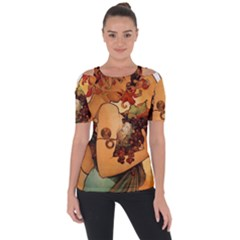 Alfons Mucha   Fruit Short Sleeve Top by 8fugoso