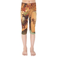 Alfons Mucha   Fruit Kids  Capri Leggings  by 8fugoso