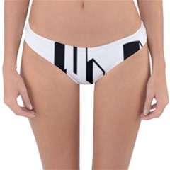 Tower City Town Building Black White Reversible Hipster Bikini Bottoms by Jojostore