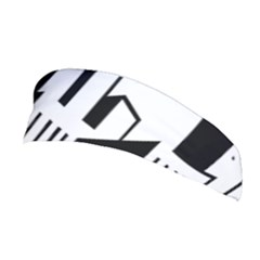 Tower City Town Building Black White Stretchable Headband