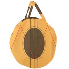 Guitar Picking Tool Line Tone Music Giant Round Zipper Tote by Jojostore