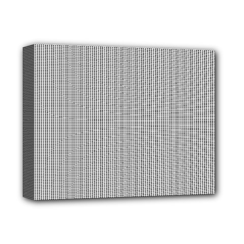 Grey Black Line Polka Dots Deluxe Canvas 14  X 11  by Jojostore