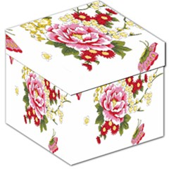 Butterfly Flowers Rose Storage Stool 12