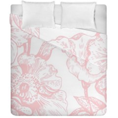Vintage Pink Floral Duvet Cover Double Side (california King Size) by 8fugoso