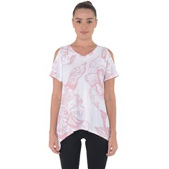 Vintage Pink Floral Cut Out Side Drop Tee